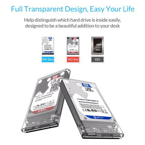 Orico 2139u3 Casing Harddisk Transparant 2 5 Inch Hardisk Sata Usb 3 0 1 orico 2139u3 drive enclosure 2 5 inch transparent usb3 0 supports uasp protocol