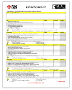 5s Project Checklist Visual Workplace Inc 5s Cleaning Checklist Template