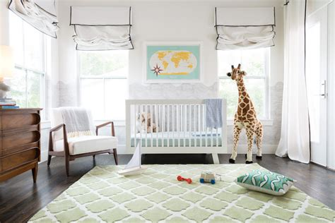 white rug nursery nursery with green quatrefoil rug transitional nursery