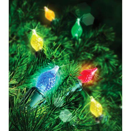 94781 holiday time led teardrop c4 lights hoilday time 60 count led c4 teardrop lights multi color walmart
