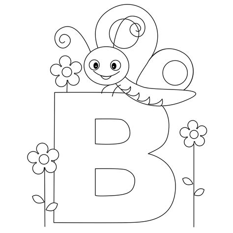 preschool coloring pages letter b animal alphabet letter b is for butterfly here s a simple