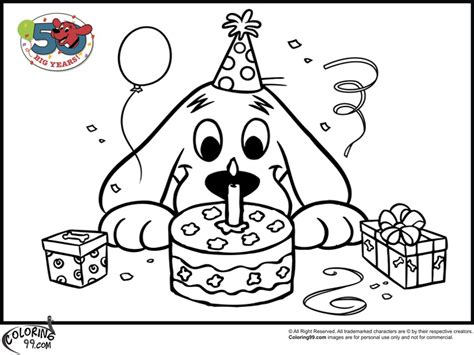 happy birthday puppy coloring pages free coloring pages of red pony