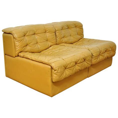 de sede ds 11 caramel leather loveseat sofa at 1stdibs