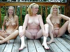nude mature swinger couple in action