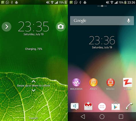 themes for android zip install xperia android l theme with android l background