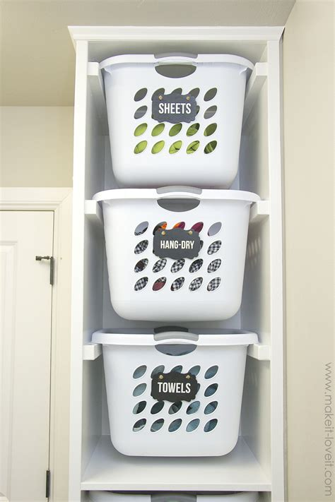 laundry organizer diy laundry basket organizer built in make it and