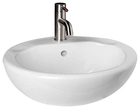 semi recessed bathroom sinks avona semi recessed sink traditional bathroom sinks