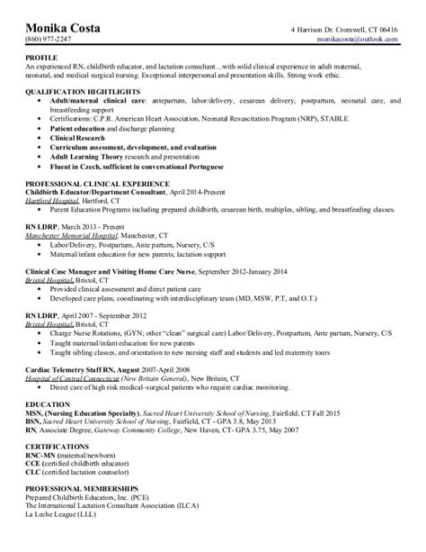 Labor And Delivery Resume Sle labor and delivery resume sle 28 images 100 labor and