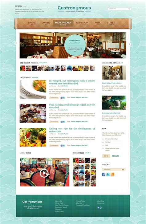 free psd templates gastronymous free psd template food and restaurant