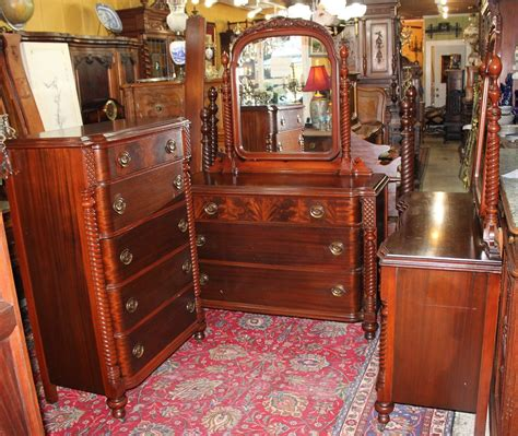 beautiful american antique mahogany bedroom set 4 pieces