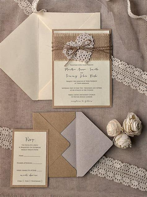 Rustic Wedding Invitation Kits