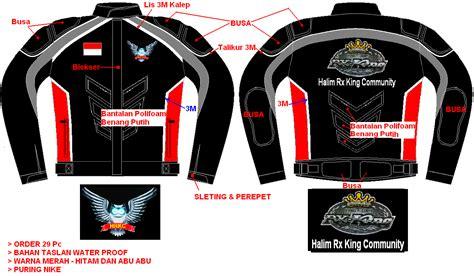 desain baju club motor wa 087808097473 konveksi jaket motor touring murah