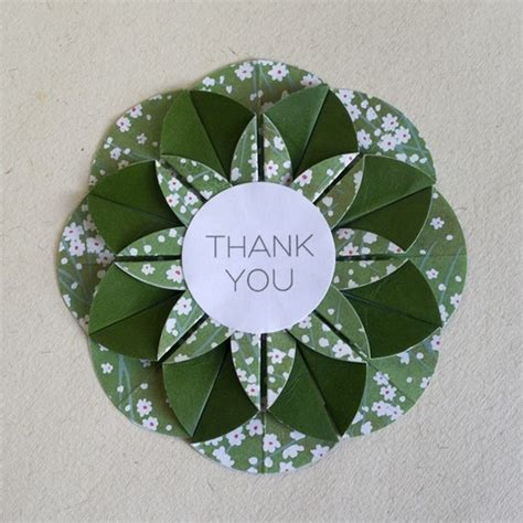 Origami Thank You Card - origami paper