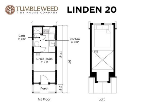 tiny house dimensions linden 20 tiny house 131 sq ft of bliss for less than