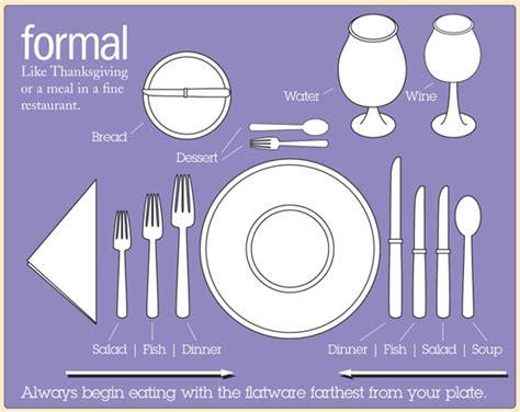 formal dinner table setting silent service code enjoy xo