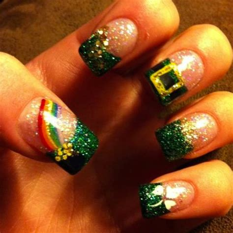 easy nail art st st patrick s day nails 66 best st patrick s day nail