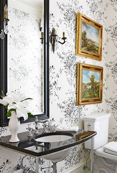 traditional bathroom wallpaper beautiful black and white bathrooms traditional home