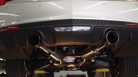cadillac ats 3 6 exhaust 2013 2016 ats 3 6l axle back performance exhaust w 4