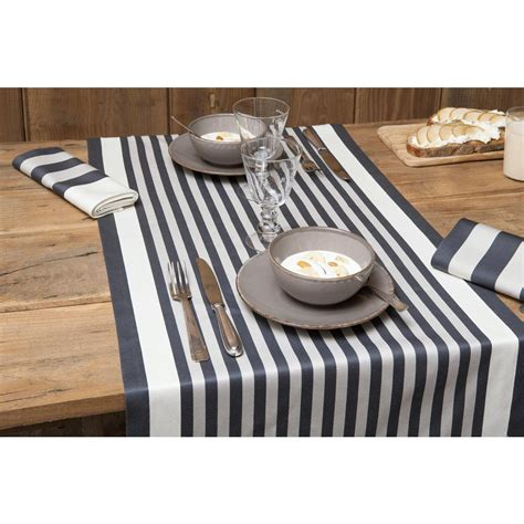 Chemin De Table Blanc Et Gris by Chemin De Table Blanc 233 Gris