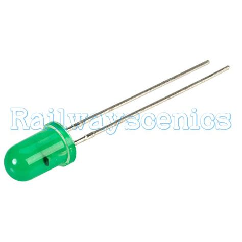 Led Lightlu Hias 40 Led Warna 5mm diffused green 12v led no resistor required railwayscenics