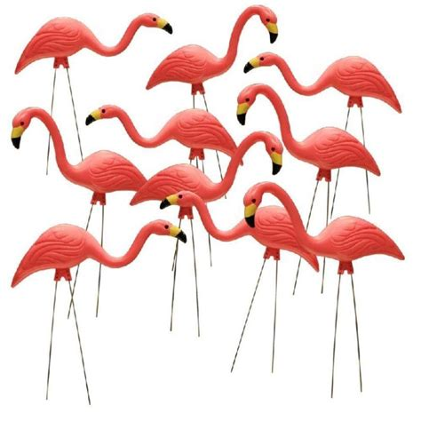 Southern Living Home Decor Party by Southern Patio 26 In Pink Flamingo 10 Pack Hdr 499485