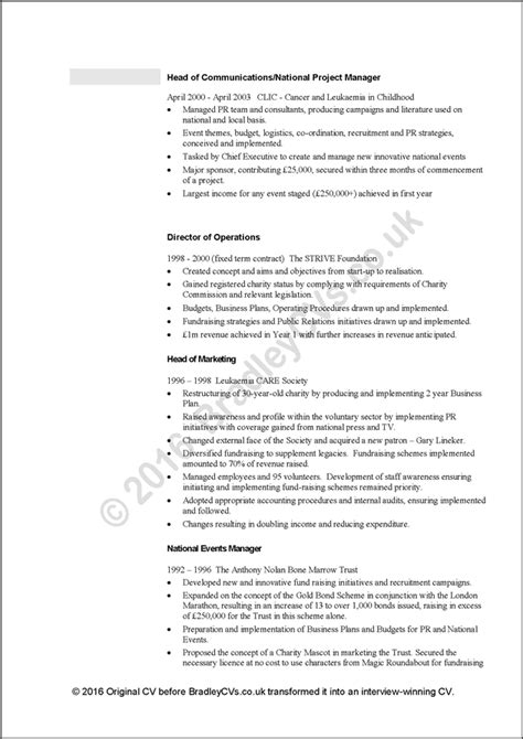 cv template reed free cv exles