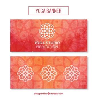 banner design for yoga free exclusive vectors by freepik