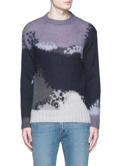 abstract pattern sweater ps by paul smith abstract pattern intarsia mohair blend