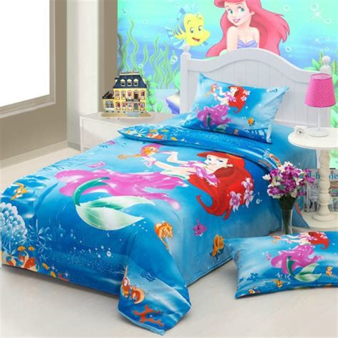 little mermaid twin comforter set the little mermaid blue girls cartoon bedding comforter
