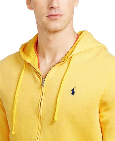 Hoodie Zipper Yellow Claw Leo Cloth polo ralph zip fleece hoodie in yellow for lyst