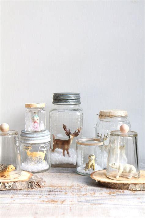Handmade Jars - vintage handmade glass snow globe deer reindeer