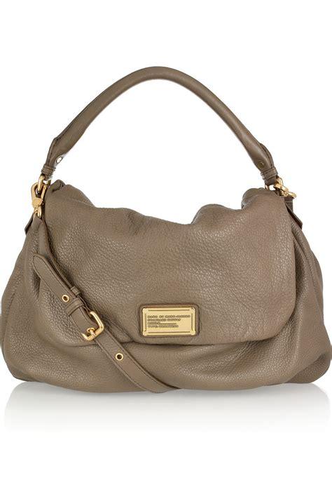 marc  marc jacobs ukita textured leather shoulder bag