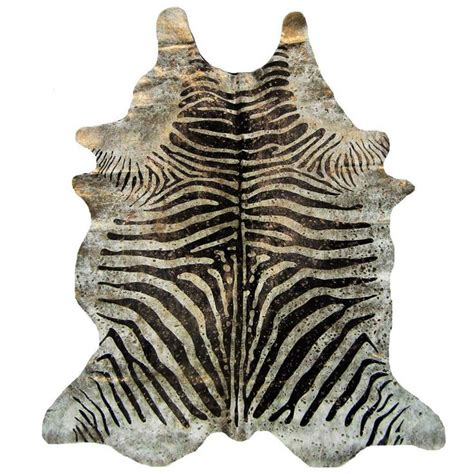 metallic zebra rug metallic splashed zebra cowhide rug
