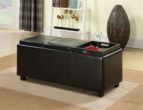 storage ottoman with serving tray decorating storage ottoman with serving tray railing