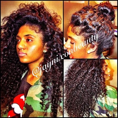 versatile sew in weave with sassy mitchell hair styled by 1000 images about curly sew in weaves on pinterest
