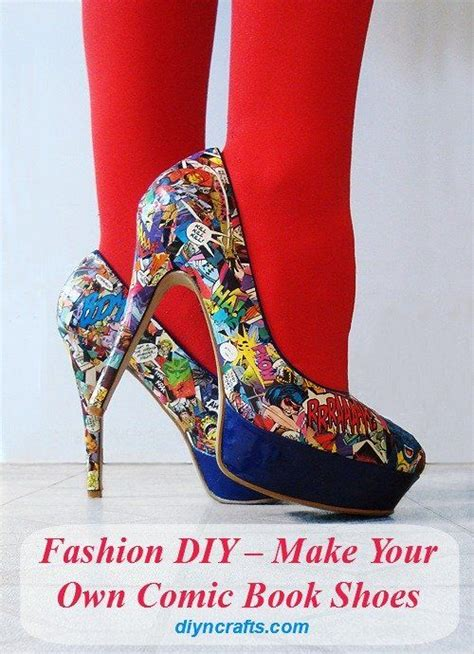 how to make your own shoes 17 best images about crafts with comics on