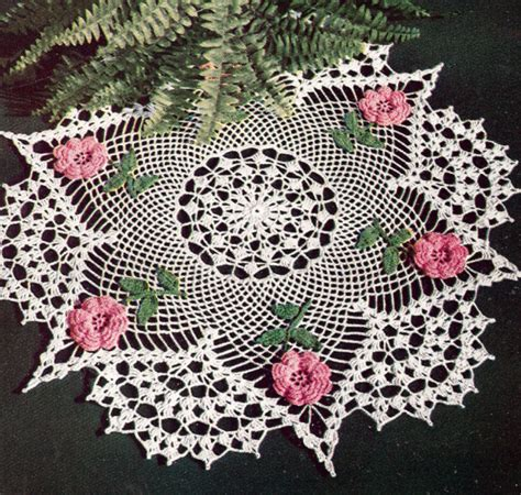 antique ls with flowers vintage crochet pattern to flower doily