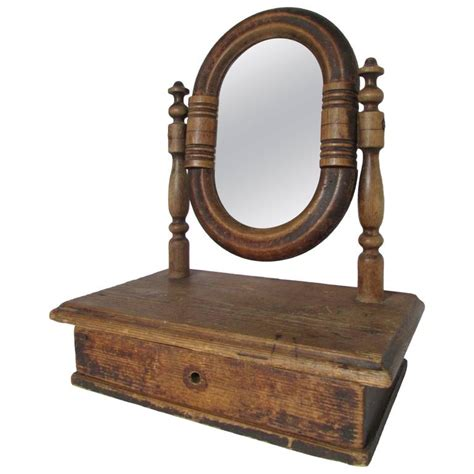 vanity mirror with small drawers 19th century french vanity mirror with drawer for sale at