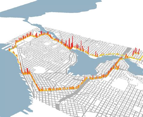 seattle map my ride some seattle bike routes healthier air than others