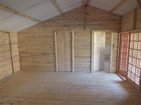 shed interior wendys sheds log cabin interior