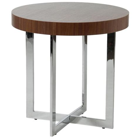 side accent tables oliver side table walnut chrome end tables