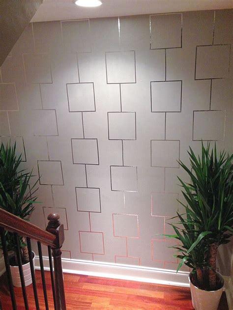decor hacks aluminum tape feature wall decor object