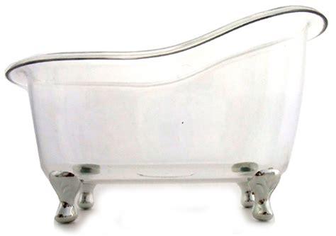 durchsichtige badewanne kleine deko badewanne transparent silberfu 223 7x6x10 5 cm
