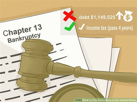 how to file bankruptcy 5 ways to file bankruptcy in the united states wikihow