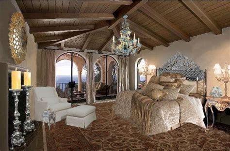 palatial two story master suite in mediterranean style california spanish colonial mediterranean bedroom