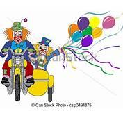 Illustrations De Couple Clown  Deux Clowns Vert