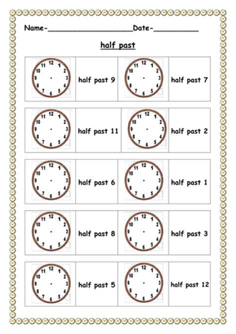 free printable quarter past worksheets half past worksheet by ruthbentham teaching resources tes
