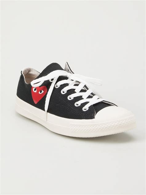 comme des garcons mens sneakers play comme des gar 231 ons printed sneakers in black for