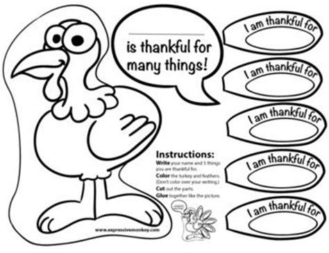6 best images of i am thankful turkey printable i am