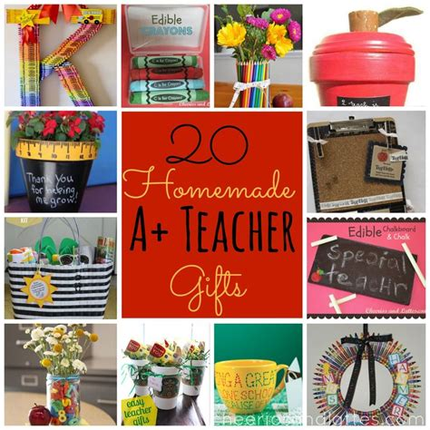 Handmade Gift Ideas For Teachers - 20 a gifts gifts